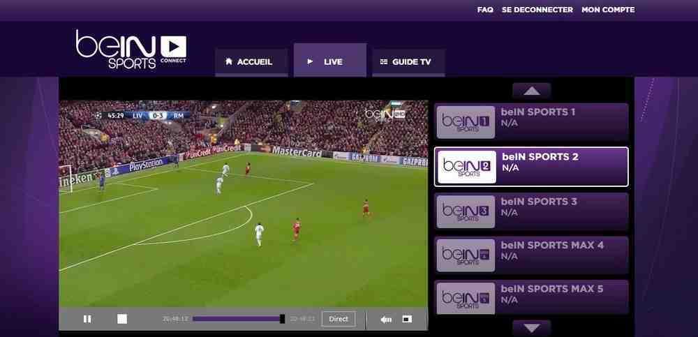 Regarder BeIN Sports 2 en Direct